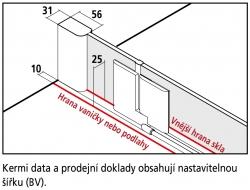 Kermi Štvrťkruh Pasa XP P50 09018 870-900 / 1850 strieborná matná ESG číre Clean Štvrťkruhový sprchovací kút kývne dvere s pevnými poľami (PXP50090181PK), fotografie 8/7
