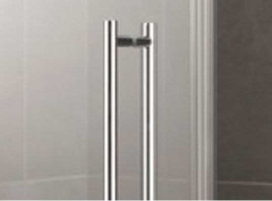Kermi Štvrťkruh Pasa XP P50 10018 970-1000 / 1850 strieborná matná ESG číre Clean Štvrťkruhový sprchovací kút kývne dvere s pevnými poľami (PXP50100181PK)