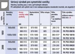 Kermi Štvrťkruh Pasa XP P55 10118 970-1000 / 1850 strieborná matná ESG číre Clean Štvrťkruhový sprchovací kút kývne dvere s pevnými poľami (PXP55101181PK), fotografie 10/7
