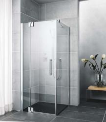 Kermi Kyvné dveře Pasa XP 1WR 14020 1370-1400/2000 stříbrná matná ESG čiré Clean 1-křídlé kyvné dveře s p. polem pro boční stěnu/zkrácenou boční stěnu (PX1WR140201PK)