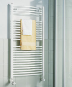 KERMI KERMI - LR0101200452XXK / B-20 R, koupelnový radiátor zahnutý 1200x450mm, bílá