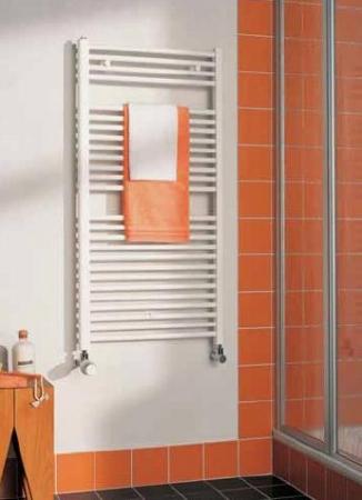 KERMI - LS0100800402XXK / B-20 S, koupelnový radiátor rovný    800x400mm, bílá