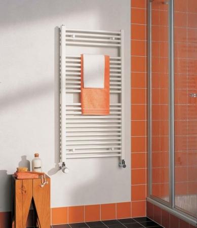KERMI - LS01M0800502XXK / B-20 SM, koupelnový radiátor rovný, se středovým připojením    800x500mm, bílá