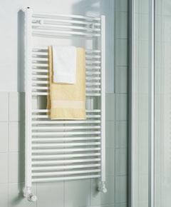 KERMI KERMI - LR01M0800452XXK / B-20 RM, koupelnový radiátor zahnutý, se středovým připojením 800x450mm, bílá