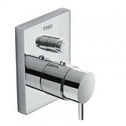 TRES - Termostatická batéria pre vaňu-sprchu podomietková s uzáverom a reguláciou prietoku · Vrátane podomietkového telesa (190652)