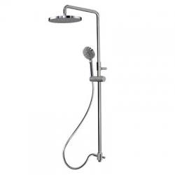 TRES - Sprchová súprava, proti usadeniu vodného kameňa. Pevná sprcha priemer 250 mm. Flexi hadice SATIN. Ručná masážna sprcha priemer 100 mm. (161213)