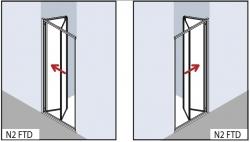 VÝPRODEJ - Zalamovací dveře-výplň bílý plast (N2FTD1001822K), fotografie 2/2