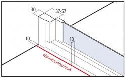 VÝPRODEJ - Zalamovací dveře-výplň bílý plast (N2FTD1001822K), fotografie 4/2