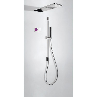 TRES - SHOWER TECHNOLOGY Termostatický podomietkový elektronický sprchový set · Sprchové kropítko (09286582)
