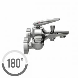 CERSANIT - Vaňová batéria so sprchou MAYO jednopáková, nástenná, s pevným výtokovým ramienkom, s prepínačom, chróm (S951-013), fotografie 2/3