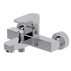 CERSANIT - Vaňová batéria so sprchou VIGO jednopáková, tříotvorová, nástenná, s pevným výtokovým ramienkom, s prepínačom, chróm (S951-010)