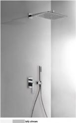TRES - Podomietková sprchová jednopáková set s uzáverom a reguláciou prietoku, vrátane telesa (20218006BL)