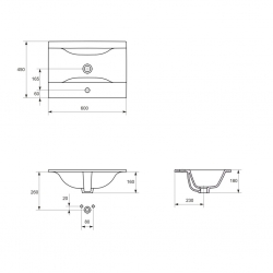 CERSANIT - Nábytkové umytadlo ONTARIO NEW 60 (K669-002), fotografie 4/3