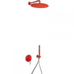 TRES - Podomietková sprchová jednopáková set s uzáverom a reguláciou prietoku, vrátane telesa (26298091TRO)