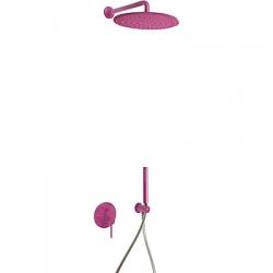 TRES - Podomietková sprchová jednopáková set s uzáverom a reguláciou prietoku, vrátane telesa (26298091TVI)