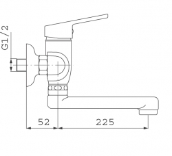 NOVASERVIS - Drezová umývadlová batéria 150 mm SMILE chróm (71070,0), fotografie 6/3