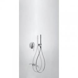 TRES - Podomietková sprchová jednopáková set s uzáverom a reguláciou prietoku, vrátane telesa (26218003TBL)