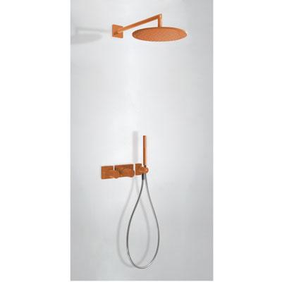 TRES - STUDY COLORS Podomietkový termostatický sprchový set s uzáverom a reguláciou prietoku (20735201TNA)