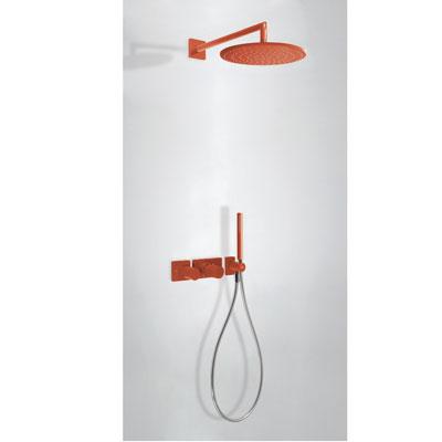 TRES - STUDY COLORS Podomietkový termostatický sprchový set s uzáverom a reguláciou prietoku (20735201TRO)