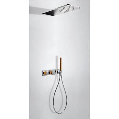 TRES - LOFT COLORS Podomietkový termostatický sprchový set s uzáverom a reguláciou prietoku (20735202NA)