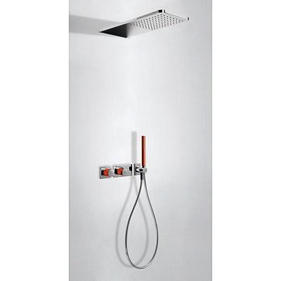 TRES - LOFT COLORS Podomietkový termostatický sprchový set s uzáverom a reguláciou prietoku (20735202RO)