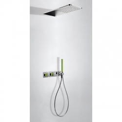 TRES - LOFT COLORS Podomietkový termostatický sprchový set s uzáverom a reguláciou prietoku (20735202VE)