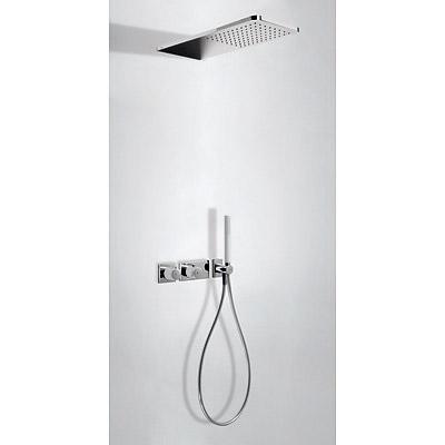 TRES - LOFT COLORS Podomietkový termostatický sprchový set s uzáverom a reguláciou prietoku (20735202BL)