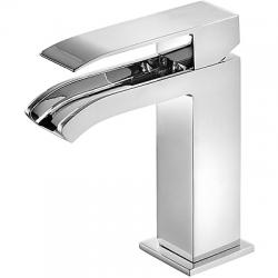TRES Umývadlová jednopáková batéria ramienko s otvoreným vodopádom (00611001)