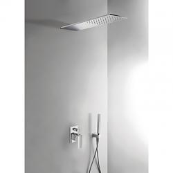 TRES - Podomietkový sprchový set CUADRO s uzáverom a reguláciou prietoku, vrátane telesa (00618003)
