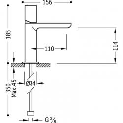 MAX-TRES Umývadlová jednopáková batéria (06110302), fotografie 2/3