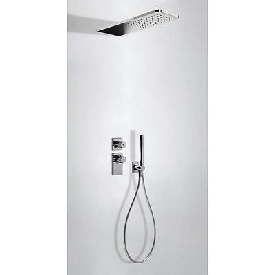 TRES - Podomietkový termostatický sprchový set BLOCK SYSTEM s uzáverom a reguláciou prietoku (2-cestná) (20635202)