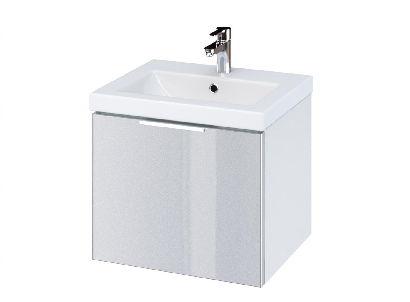 CERSANIT - Skrienka STILLO pod umývadlo COMO/ COLOUR 50, biela/ šedé dvere (S575-002)