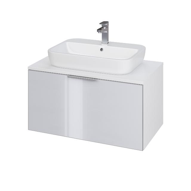 CERSANIT - Umývadlová skrinka STILLO CASPIA SQUARE / OVAL 80 bielo / šedá (S575-006)