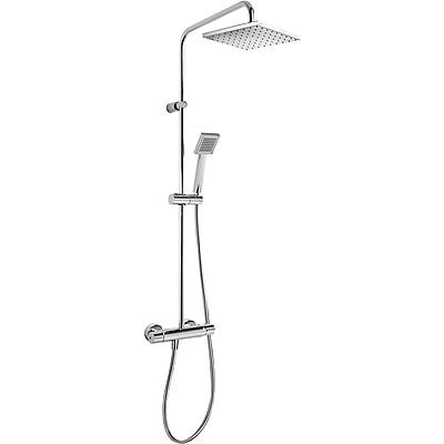 TRESMOSTATIC Súprava termostatické sprchové batérie FLAT, pevná sprcha, ručná sprcha, hadica, (20438702)