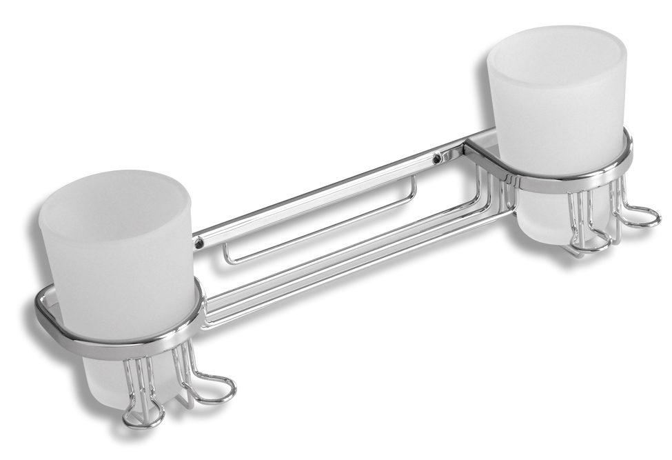 NOVASERVIS - Dojitý držiak pohárov  Metalia Drôtený program chróm (6057,0)