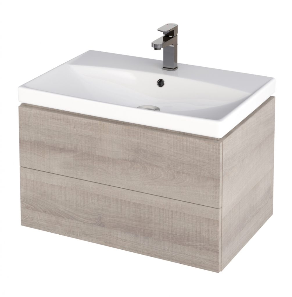 CERSANIT - Skrinka pod umývadlo CITY/ COMO 70, šedý dub (S584-007)