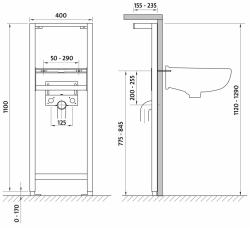 CERSANIT - Systém pro umyvadlo (K97-063), fotografie 2/2