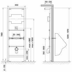 CERSANIT - Systém pro pisoár (K97-064), fotografie 4/3