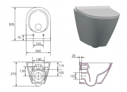 CERSANIT - WC MISA CITY OVAL NEW CLEANON (K35-025), fotografie 4/2