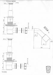 CERSANIT - sifón pre sprchové vaničky 821/50 (S904-002), fotografie 4/2
