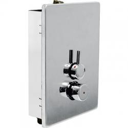 TRES - Sprchová zmiešavacia batéria, protiľahlé vstupy a zvislý výstup. s 2 vstupy vody (01217901)