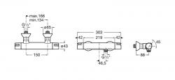 AKCE/ROCA - Sprchová termostatická batéria VICTORIA bez príslušenstva, chróm (A5A1318C00), fotografie 2/2