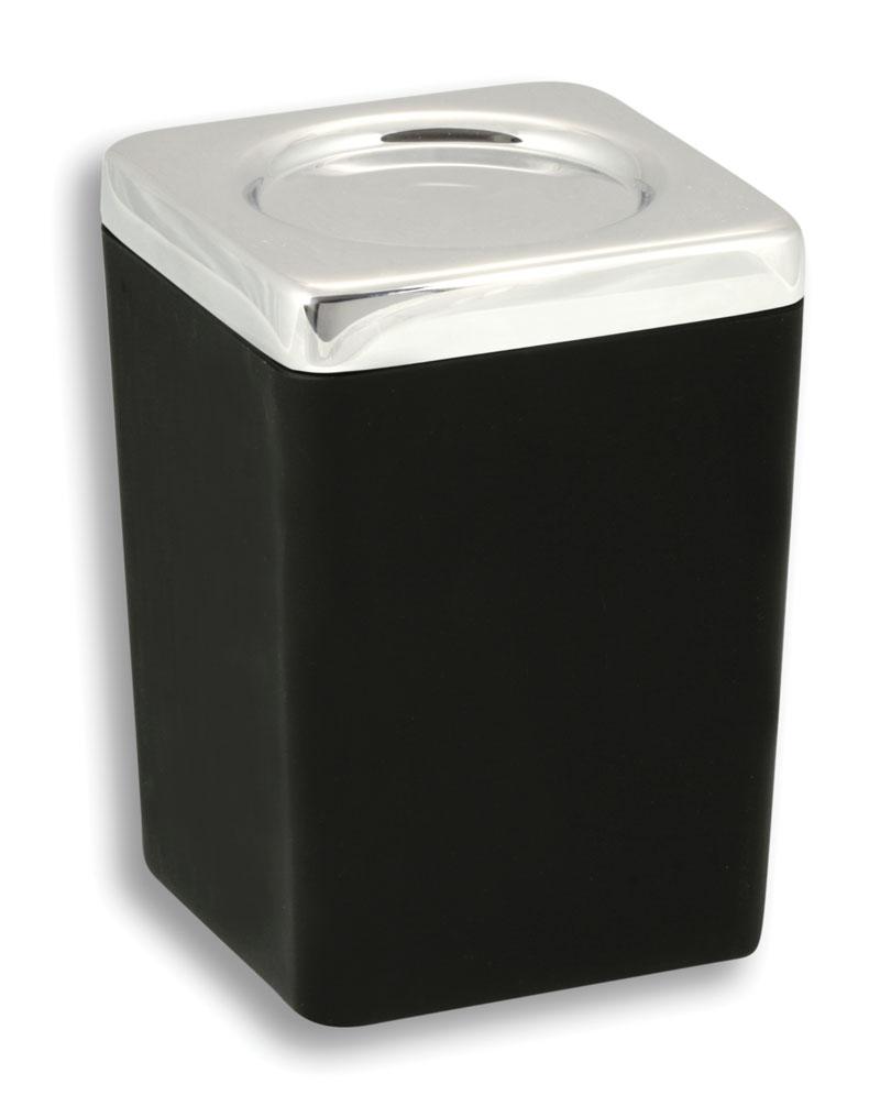 NOVASERVIS - Dóza na kúpeľňovú soľ  Metalia 4 čierna-chróm (6404,5)