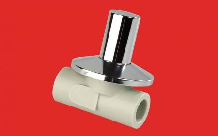 VÝPRODEJ - PPR ventil podomítkový 20 kov. krytka  (Laguna) (313020VYP)