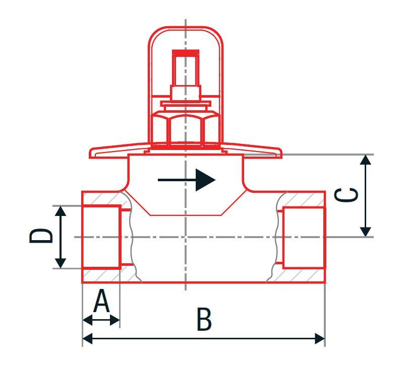 VÝPRODEJ - PPR ventil podomítkový 20 kov. krytka  (Laguna) (313020VYP), fotografie 2/2
