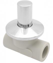 VÝPRODEJ - PPR ventil podomítkový 20 kov. krytka  (Laguna) (313020VYP), fotografie 4/2