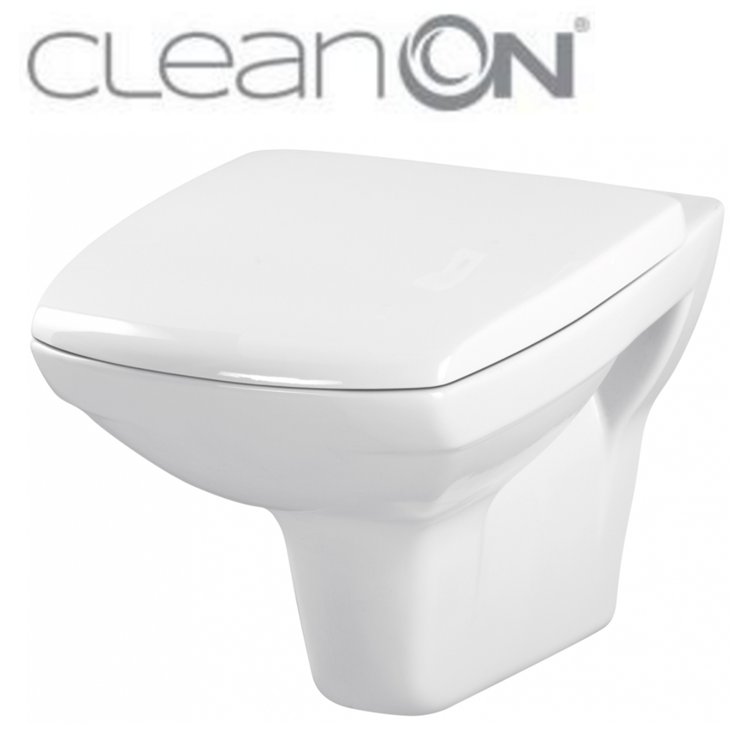 CERSANIT - ZÁVESNÁ MISA CARINA NEW CLEAN ON + sedátko (K31-046 + K98-0068)