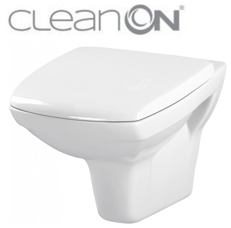 CERSANIT - ZÁVESNÁ MISA CARINA NEW CLEAN ON + sedátko (K31-046 + K98-0069)