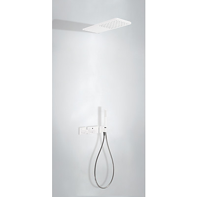 TRES - Podomietkový termostatický sprchový set BLOCK SYSTEM s uzáverom a reguláciou prietoku 2-cestný (20735202BM)