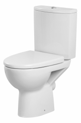 CERSANIT - WC KOMBI PARVA 306 011 3/6, sedátko duroplast, antibakteriální, soft close, easy-off (K27-027)